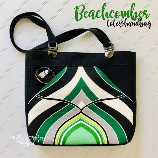 Sewing pattern for the Beachcomber Tote and Handbag (2 sizes), bags which are beautiful, classy and spacious!