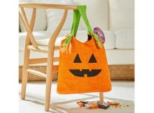 Jack O Lantern Halloween Tote Bag FREE sewing pattern