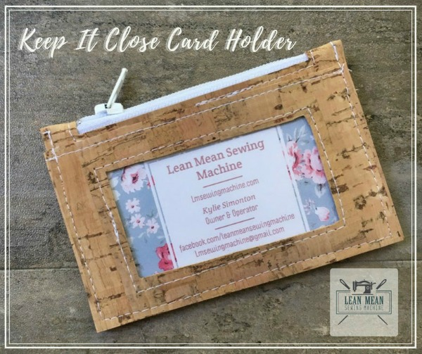 Keep It Close Card Holder sewing pattern