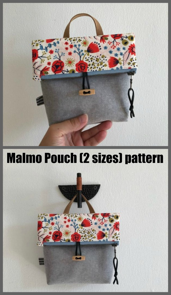 Malmo Pouch (2 sizes) sewing pattern