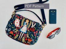 Serena Saddle Bag sewing pattern