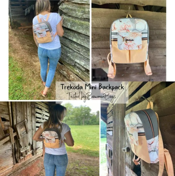 Trekoda Mini Backpack sewing pattern (with video)