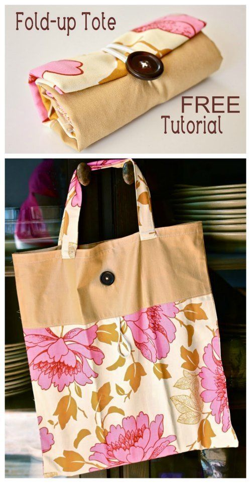 Fold-Up Tote Bag - FREE Sewing Tutorial