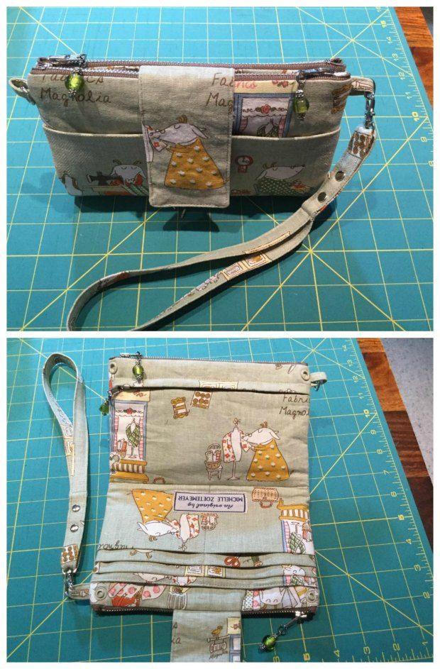 Emzed Foldover Clutch Wallet FREE sewing pattern
