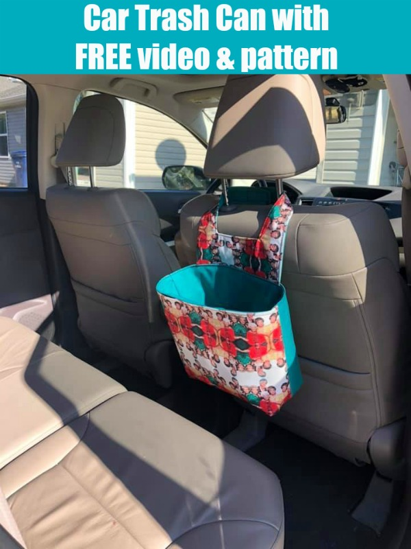 Car Trash Can with FREE video and pattern