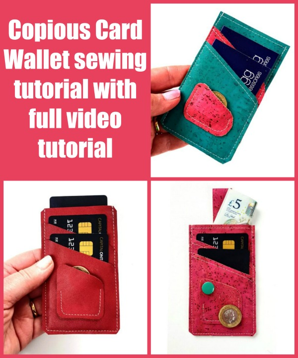 Copious Card Wallet (+ video) sewing pattern