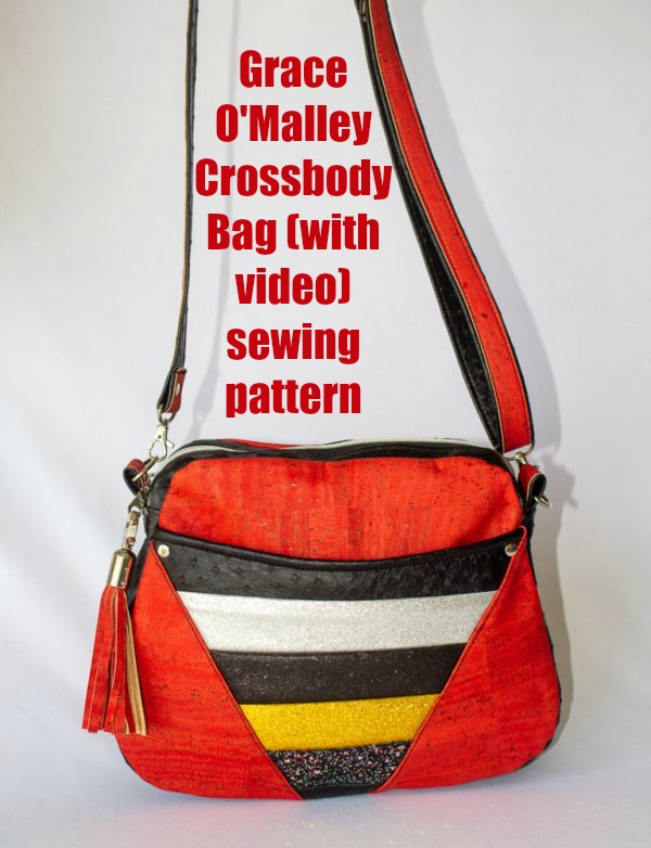 Grace O'Malley Crossbody Bag (with video) sewing pattern
