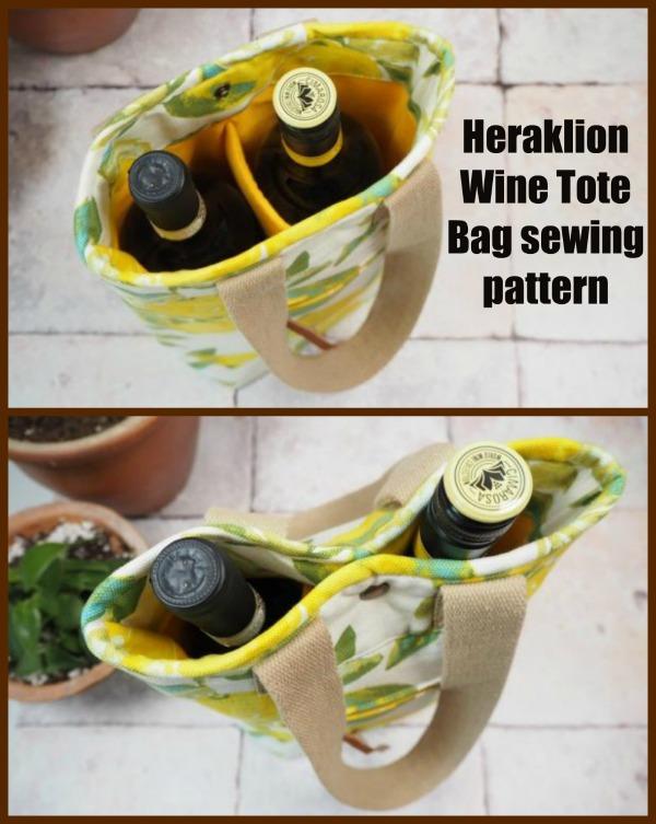 Heraklion Wine Tote Bag sewing pattern