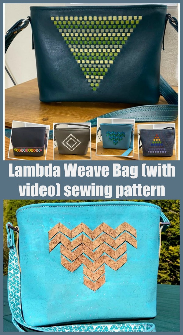 Lambda Weave Bag (with video) sewing pattern