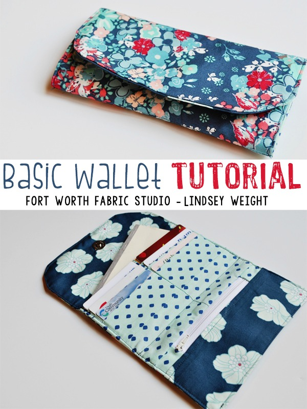 FREE Basic Wallet sewing tutorial