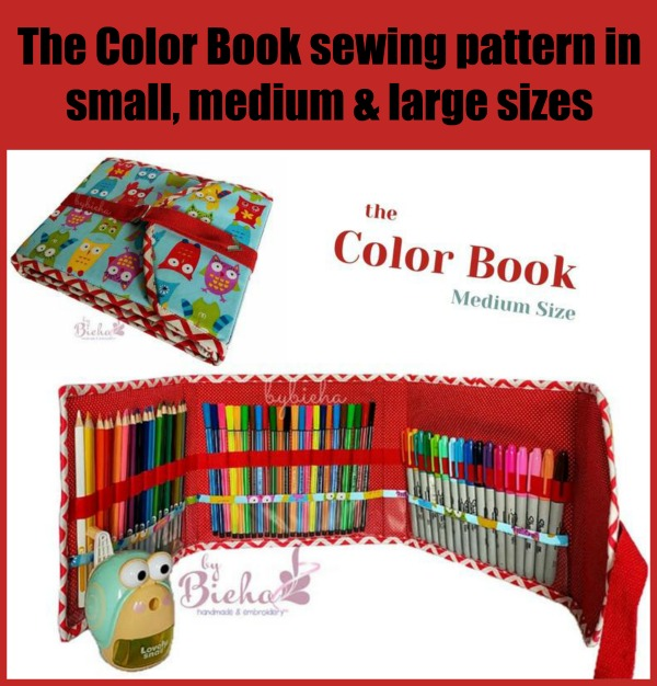 Color Book Art Storage (3 sizes) sewing pattern