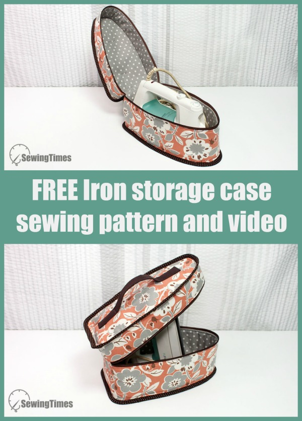 FREE Iron storage case sewing pattern and video