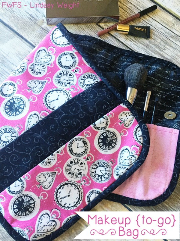 Sewing tutorial for the Makeup (to-go) Bag