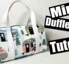 Mini Duffle Bag FREE pattern and video tutorial