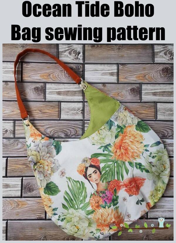 Ocean Tide Boho Bag sewing pattern