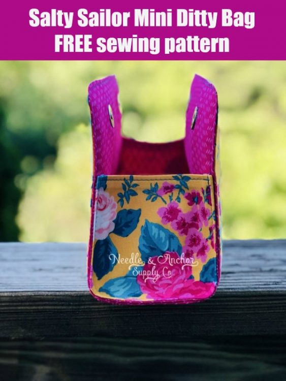 Salty Sailor Mini Ditty Bag FREE sewing pattern