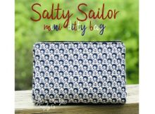 .Salty Sailor Mini Ditty Bag FREE sewing pattern