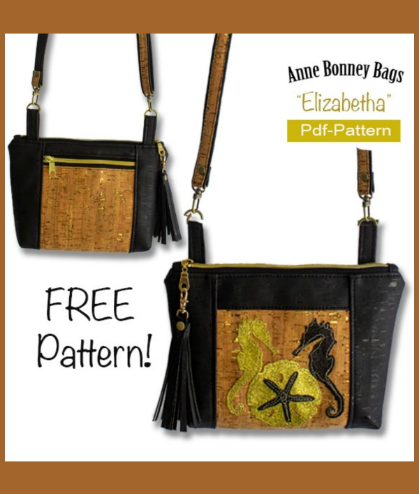 FREE sewing pattern with video for the Elizabetha Crossbody Purse