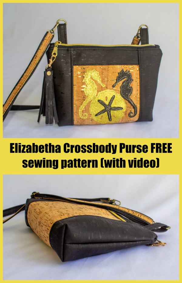 Elizabetha Crossbody Purse FREE sewing pattern (with video)
