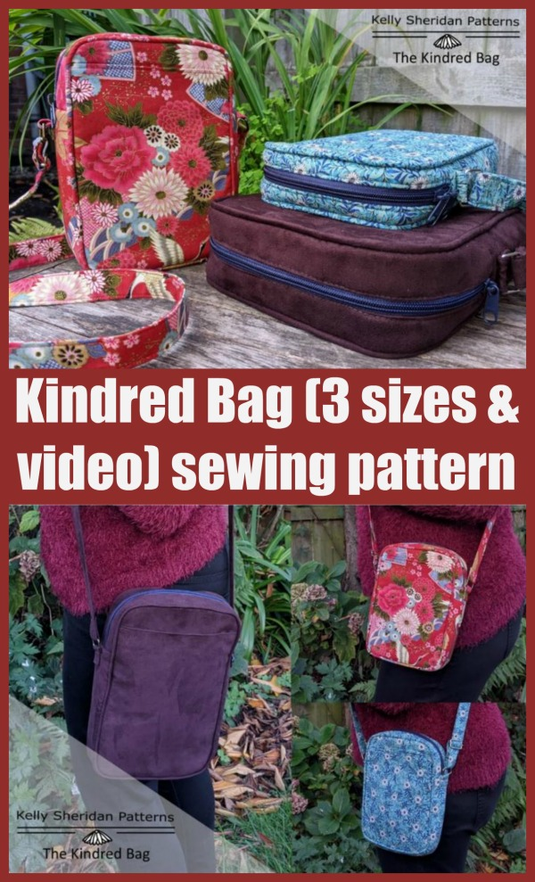 Sewing pattern for the Kindred Bag (3 sizes and video)