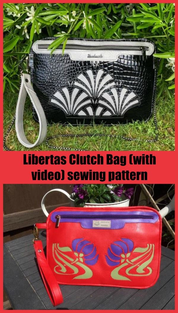 Libertas Clutch Bag (with video) sewing pattern