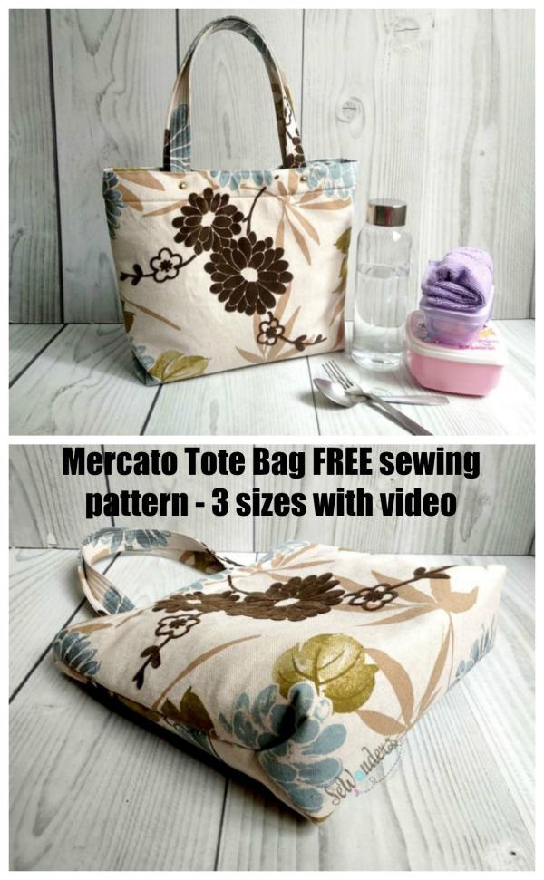 Mercato Tote Bag FREE sewing pattern