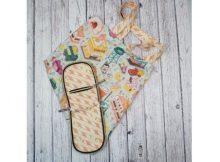 New York Zip-up Shopping Tote Bag sewing pattern