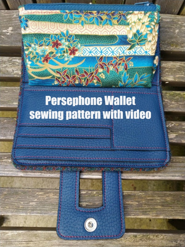 Persephone Wallet sewing pattern with video
