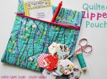 Quilted Zipper Pouch pattern