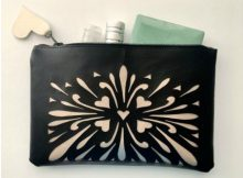 Silhouette Zippered Leatherette Pouch sewing pattern