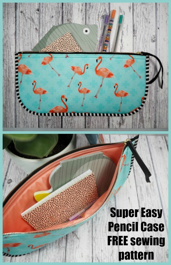 FREE sewing pattern for the Super Easy Pencil Case, the perfect project for a beginner sewer.