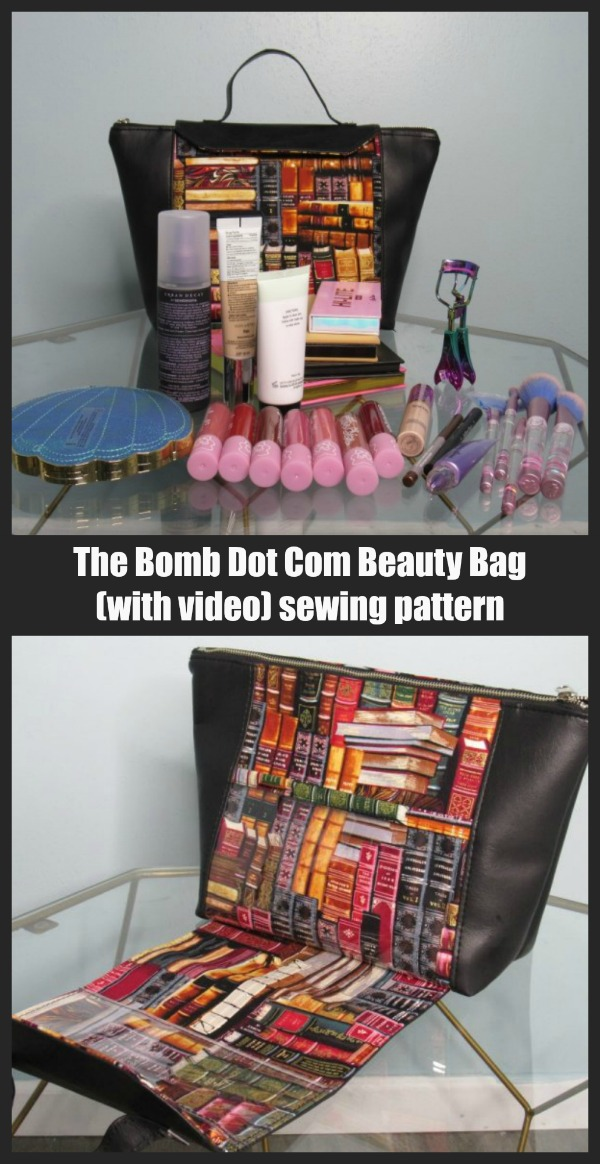 The Bomb Dot Com Beauty Bag (with video) sewing pattern
