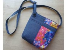 The Crafted Crossbody Bag FREE sewing pattern
