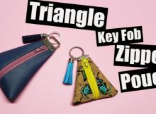 Triangle Key Fob Zipper Pouch FREE video tutorial