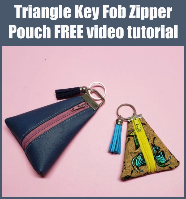 FREE video tutorial for the Triangle Key Fob Zipper Pouch