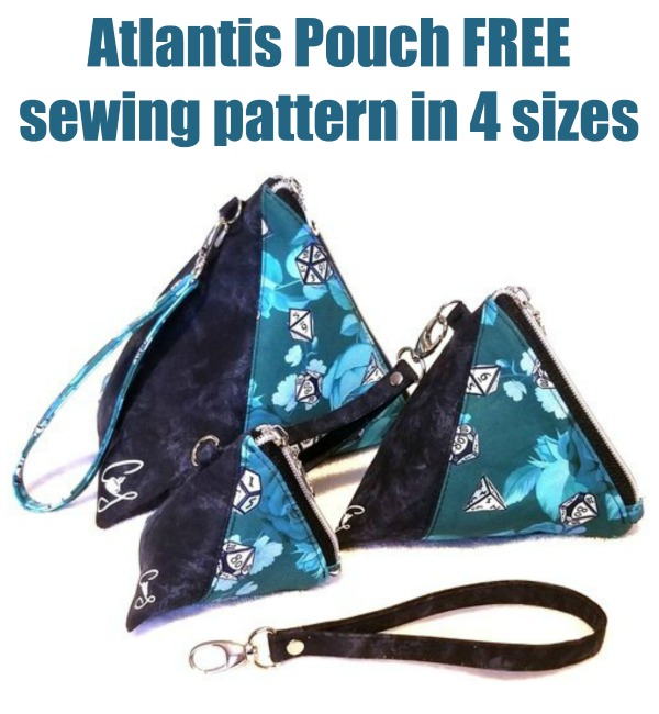 Atlantis Pouch FREE sewing pattern in 4 sizes
