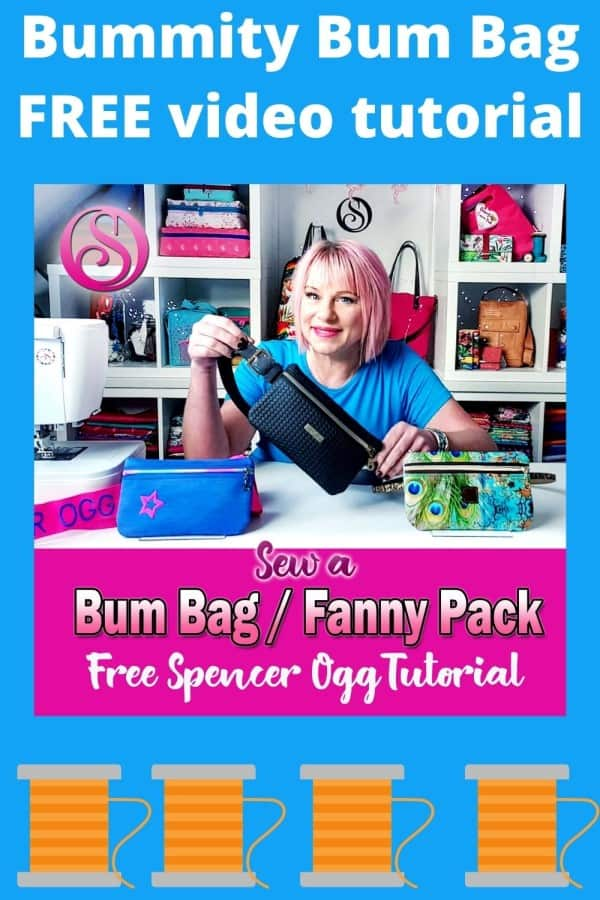 Bummity Bum Bag FREE sewing video tutorial