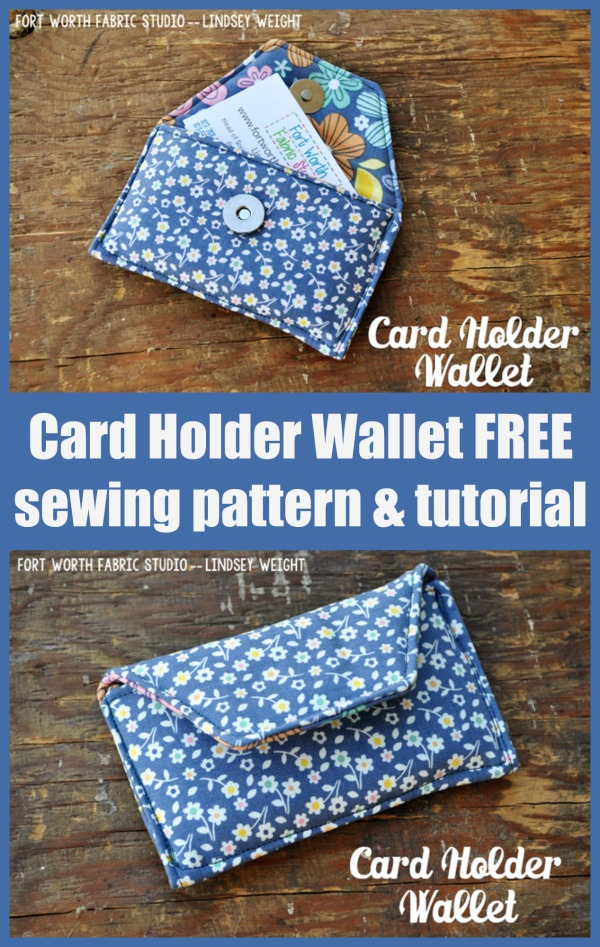Card Holder Wallet FREE sewing pattern and tutorial