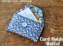 Card Holder Wallet FREE sewing pattern & tutorial
