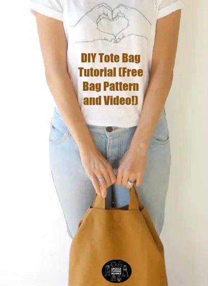 DIY Tote Bag Tutorial (Free Bag Pattern and Video!)