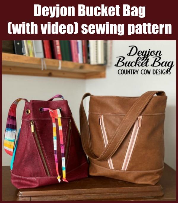 Deyjon Bucket Bag (with video) sewing pattern