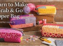Grab and Go zipper bag sewing video class