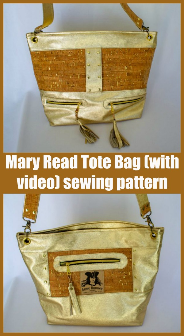 Mary Read Tote Bag (with video) sewing pattern