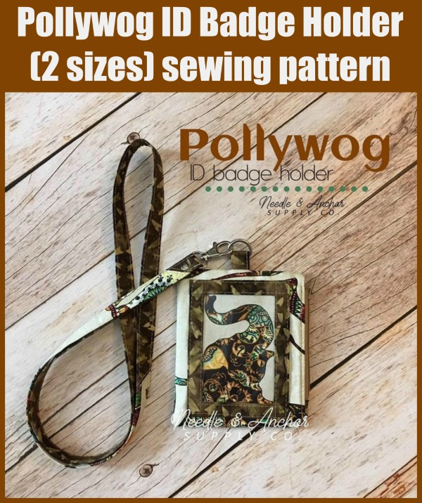 Pollywog ID Badge Holder (2 sizes) sewing pattern