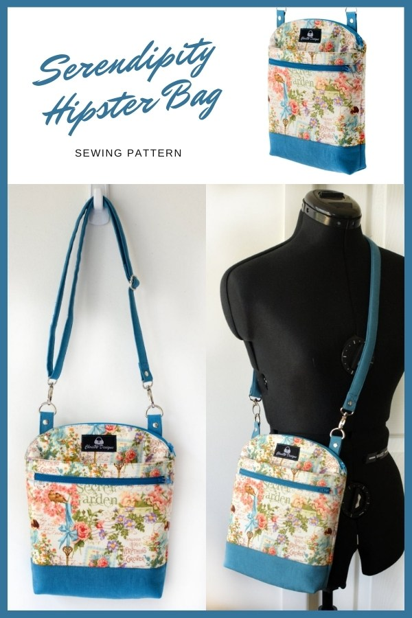 Sewing pattern for the Serendipity Hipster Bag