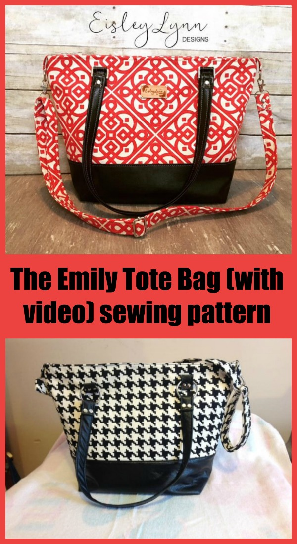 Sewing pattern with video for the Emily Tote Bag