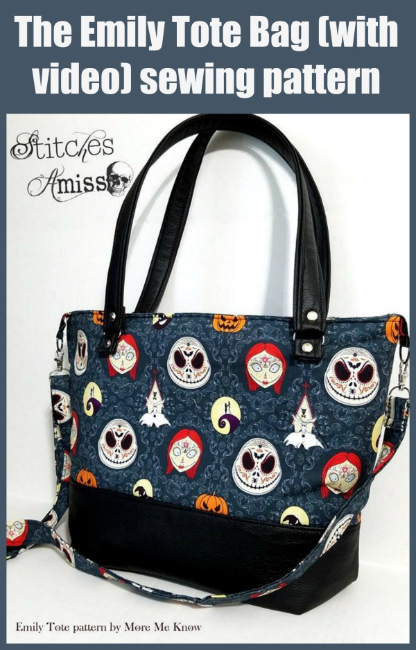 The Emily Tote Bag (with video) sewing pattern