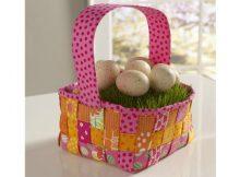 Woven Easter Basket free pattern