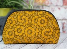 Half Moon Pouch FREE sewing pattern