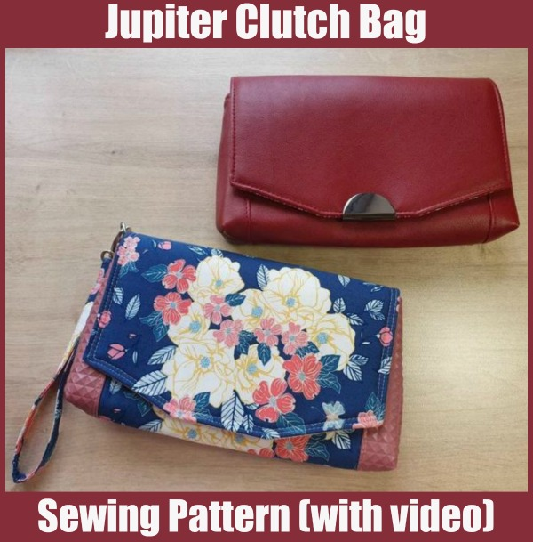 Jupiter Clutch Bag sewing pattern (with video)